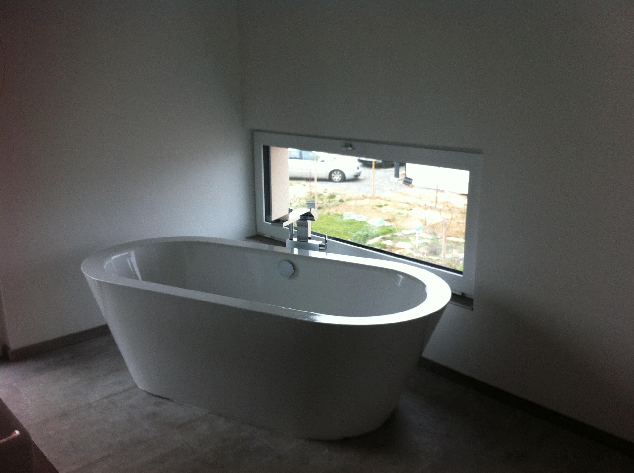 freistehende silhoutte badewanne von bette gestaltung von sina m s design. Black Bedroom Furniture Sets. Home Design Ideas