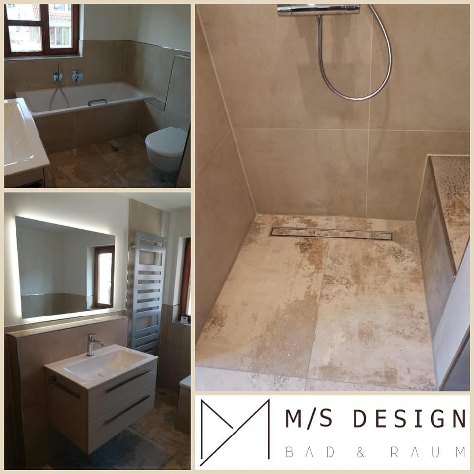 neue Badezimmergestaltung in Umkrich - M/S DESIGN